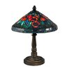 """Dale Tiffany Poppy Shade 13.8"""" H Table Lamp with Cone Shade"""