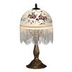 "Dale Tiffany Rose Beaded 18.5"" H Table Lamp with Bowl Shade"