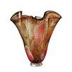 Dale Tiffany Paprika Ruffle Vase