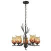 Dale Tiffany Spotted Owl 5 Light Chandelier