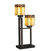 """Dale Tiffany Biscayne 27"""" H Table Lamp with Square Shade"""
