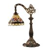 """Dale Tiffany Lea Bridge 21.75"""" H Table Lamp with Bell Shade"""