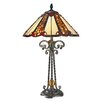 "Dale Tiffany Flint River 25.5"" H Table Lamp with Bell Shade"