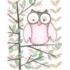 Renditions by Reesa Owl Pink Wall Plaque