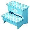 Renditions by Reesa Trellis 2-Step Manufactured Wood Personalized Children's Step Stool