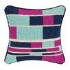 KD Spain Geo Stripe Bargello Needlepoint Wool Throw Pillow