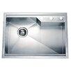 """Dawn USA 26.38"""" x 18.88"""" Dual Mount Square Single Bowl Kitchen Sink"""