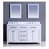 """Dawn USA 60"""" Double Vanity Set with Mirror"""
