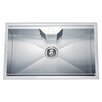 "Dawn USA 30.75"" x 18.88"" Dual Mount Square Single Bowl Kitchen Sink"