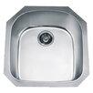 """Dawn USA 21.25"""" x 20.5"""" Under Mount Single Bowl Kitchen Sink"""