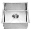 "Dawn USA 17.19"" x 17.19"" Under Mount Single Bowl Kitchen Sink"