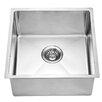 """Dawn USA 17.19"""" x 17.19"""" Under Mount Single Bowl Kitchen Sink"""