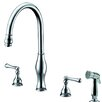 Dawn USA Single Handle Deck Mount Kitchen Faucet with Side Spray