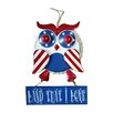 Worth Imports Hanging Metal Patriotic Owl with Sign