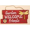 Garden, Welcome, Friends Hanging Wood Sign - Worth Imports Garden Statues and Outdoor Accents