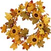 "Worth Imports Mixed Burlap 20"" Sunflower/Berry Wreath"