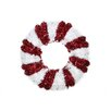 Penn Distributing Lighted Peppermint Twist Candy Cane Christmas Tinsel Wreath