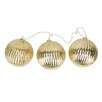 Penn Distributing Ribbed Ball Christmas Ornaments (Set of 3)