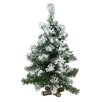 Penn Distributing 1.6' Flocked Pine Artificial Christmas Tree with 20 Clear LED Lights