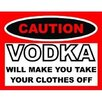 Signs 2 All Caution Vodka Typography Plaque