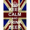 Signs 2 All Keep Calm and Drink Beer Graphic Art Plaque