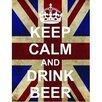 Signs 2 All Schild Keep Calm and Drink Beer, Grafikdruck