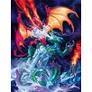 Signs 2 All Wandbild Fire and Ice Dragon, Grafikdruck von Rich Kelly