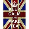 Signs 2 All Keep Calm and Make Tea Graphic Art on Canvas