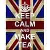 Signs 2 All Leiwandbild Keep Calm and Make Tea, Grafikdruck