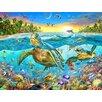 Signs 2 All Wandbild Turtle Cove, Grafikdruck von Adrian Chesterman
