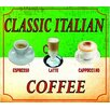 Signs 2 All Classic Italian Coffee Cappuccino Espresso Latte Vintage Advertisement Plaque