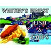 Signs 2 All Whitby's Finest Fish and Chips Vintage Advertisement Plaque