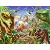Signs 2 All Dinosaur's World 2 by Adrian Chesterman Graphic Art Plaque