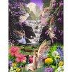 Signs 2 All Schild Waterfall Fairies, Grafikdruck von Garry Walton