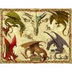 Signs 2 All Dragon Study by Garry Walton Graphic Art Plaque