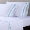 Affluence Home Fashions 4 Piece 600 Thread Count Cotton Embroidered Sheet Set