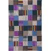 talis teppiche Handgewebter Wohnteppich Flash House in Blau/Lila