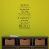 Belvedere Designs LLC Faith Family Rules Wall Decal