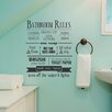 Belvedere Designs LLC Bathroom Rules Wall Decal
