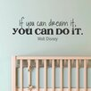 Belvedere Designs LLC Dream It Do It Whimsical Wall Decal
