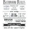 Belvedere Designs LLC Bathroom Rules Wall Decal