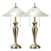 """Artiva USA 24"""" H Table Lamp with Bowl Shade (Set of 2)"""