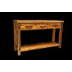 Utah Mountain Barnwood 3 Drawer Console Table