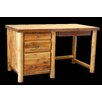 Utah Mountain Barnwood Open Student Desk with Round Legs