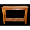 Utah Mountain Barnwood Console Table with Round Legs