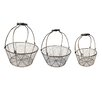 American Mercantile 3 Piece Metal Basket Set