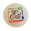 American Mercantile Ceramic 'Eat' Plate