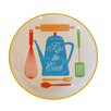 "American Mercantile Ceramic ""Kiss The Cook"" Plate"