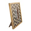 American Mercantile Wood Chevron Picture Frame