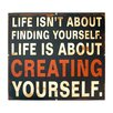 American Mercantile Metal Sign 'Creating Yourself' Wall Decor